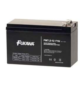 FUKAWA olověná baterie FW 7,2-12 F1U do UPS APC/ AEG/ EATON/ Powerware/ 12V/ 7,2 Ah/ životnost 5 let/ Faston F1-4,7mm