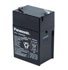 PANASONIC olověná baterie LC-R064R5P do svítilen/ 6V/ 4,5Ah/ životnost 6-9 let/ Faston F1-4,7mm
