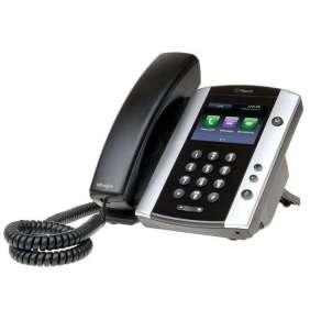Polycom IP telefon VVX 501, SIP, 12 linkový, kapacitní LCD, 2x USB, USB záznam, PoE