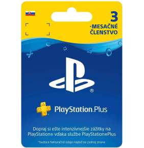 PlayStation Plus Card Hang 90 Days pro SK PS Store