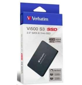 """VERBATIM SSD Vi500 S3 480GB SATA III 7mm, 2.5"""""""