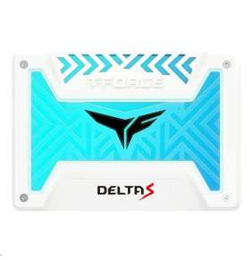 "T-FORCE SSD 2.5"" 250GB Delta S RGB (12V), 3D NAND, White"