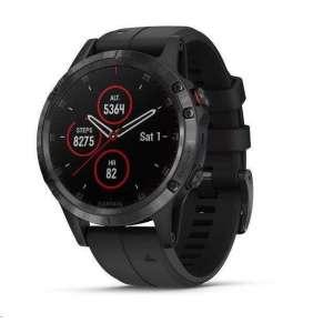 Garmin GPS sportovní hodinky fenix5 Plus Sapphire Black, černý řemínek, Performer TRI Bundle