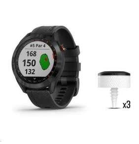 Garmin Golfové GPS hodinky Approach S40 Black, CT10 Bundle