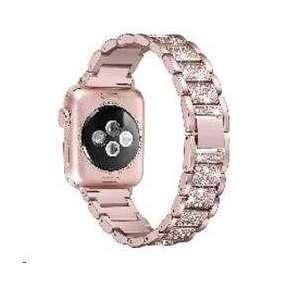 eses kovový luxusní řemínek 38/40mm růžový pro Apple Watch