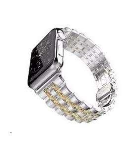 eses kovový řemínek 42/44mm stříbrný/zlatý pro Apple Watch