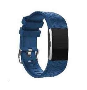 eses silikonový řemínek tmavě modrá velikost L pro Fitbit Charge 2