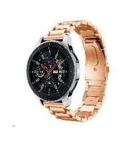 eses kovový řemínek růžově zlatý pro samsung galaxy watch 42mm/gear sport/galaxy watch active/garmin vivoactive 3