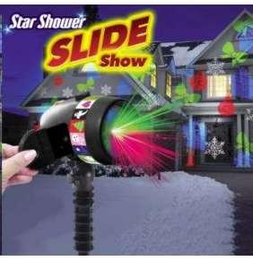 Star Shower Slide Show  laserová lampa systém s pohyblivými světly