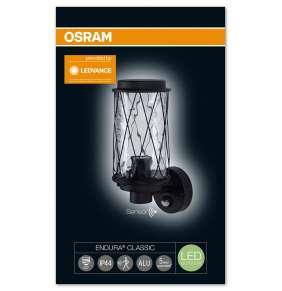 OSRAM svítidlo ENDURA CLASSIC CAGE UP SENSOR E27 BK