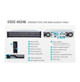 "INFORTREND (ESDS 4024RUCB) Gen2 High IOPS, 2U, 4x1GbE + 4x host board (type2), 4x12G SAS exp.,24xHDD 2,5"", Dual Con.,2x8"
