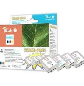 PEACH kompatibilní cartridge HP 940XL (C4906A), combipack, Black, Cyan, Magenta, Yellow, 70 ml, 3x 25 ml