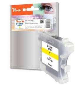 PEACH kompatibilní cartridge Brother LC-1100C, Yellow, 13 ml