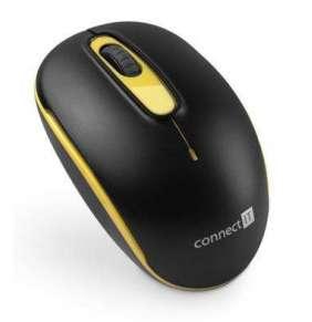 CONNECT IT bezdrátová optická myš, černo-žlutá