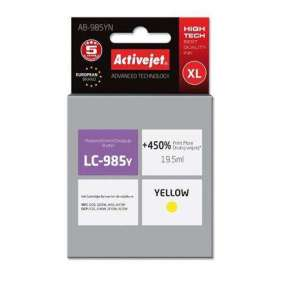 ActiveJet ink cartr. Brother LC-985Y - 19 ml - 100% NEW AB-985YN (AB-985Y)