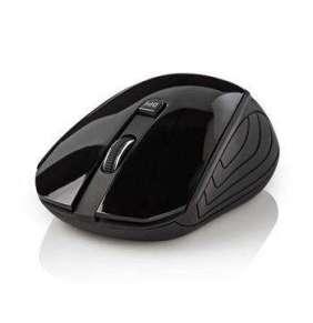 Nedis MSWS400BK - Bezdrátová myš | 1 000 dpi | 3 tlačítka | Černá barva