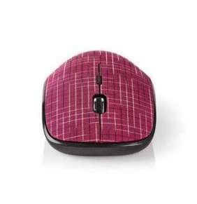 Nedis MSWS500PK - Bezdrátová myš  |  1600 DPI  |  3 tlačítka  |  Růžová