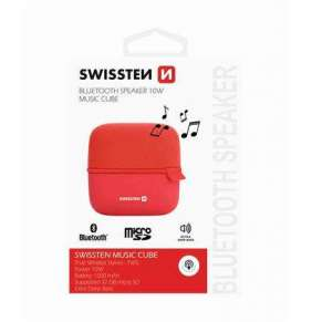 Swissten Bluetooth Reproduktor Music Cube Červený