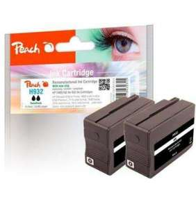PEACH kompatibilní cartridge HP No. 932, černá, Twin-Pack2x16ml