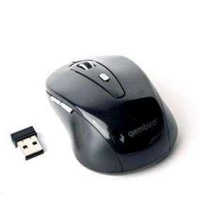 Myš GEMBIRD MUSW-6B-01, černá, bezdrátová, USB nano receiver
