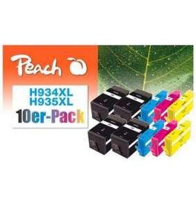 PEACH kompatibilní cartridge HP No. 934/935XL, Combi pack (10), 4x bk, 2x c,m,y  4x49/6x12ml