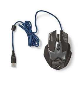 Nedis GMWD200BK - Herní Myš | Kabelové | Osvětlená | 2400 DPI | 7 tlačítek