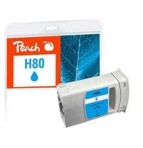 PEACH kompatibilní cartridge HP No. 80, azurová, C4872A, 175ml