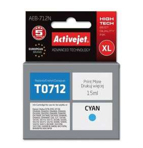 ActiveJet Ink cartridge Eps T0712 D78/DX6000/DX6050 Cyan - 15 ml     AEB-712