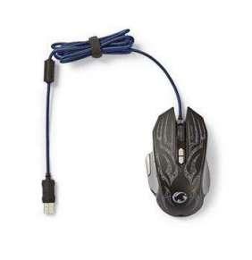 Nedis GMWD400BK - Herní Myš | Kabelové | Osvětlená | 4000 DPI | 9 tlačítek