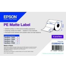 PE Matte Label - Die-cut Roll: 76mm x 127mm
