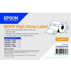 BOPP High Gloss Label - Die-cut Roll: 76mm x 127mm