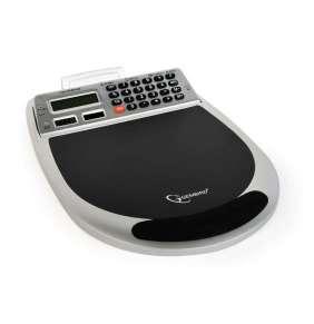 Gembird combo podložka pod myš s integrovaným 3-port USB hubom, kalkulačkou, čítačkou pamäťových kariet a teplomerom