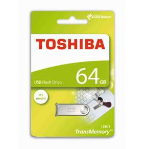 TOSHIBA Flash Disk 64GB U401, USB 2.0, stříbrná