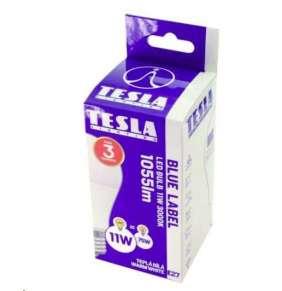 TESLA LED žárovka BULB/ E27/ 11W/ 230V/ 1055lm/ 3000K/ teplá bílá