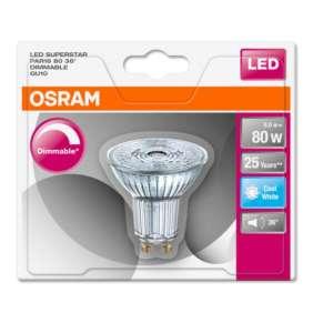 OSRAM LED SUPERSTAR PAR16 36° 230V 8W 840 GU10 DIM A+ Sklo 575lm 4000K 25000h (blistr 1ks)