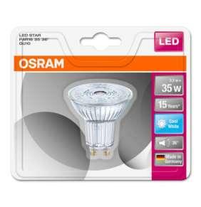 OSRAM LED STAR PAR16 36° 230V 3,3W 840 GU10 noDIM A+ Sklo 230lm 4000K 15000h (blistr 1ks)