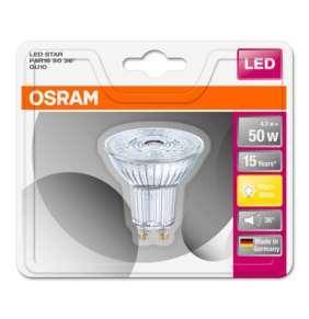OSRAM LED STAR PAR16 36° 230V 4,3W 827 GU10 noDIM A+ Sklo 350lm 2700K 15000h (blistr 1ks)