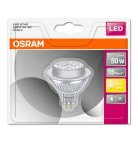 OSRAM LED STAR MR16 36° 7,2W 12V 827 GU5.3 621lm 2700K (CRI 80) 15000h A+ (Krabička 1ks)