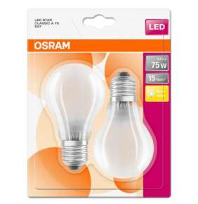 OSRAM LED STAR CL A GL Fros. 8W 827 E27 1055lm 2700K (CRI 80) 15000h A++ (Krabička 2ks)