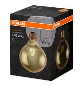 OSRAM Vintage 1906 LED CL GLOBE125 Filament GOLD 4W 825 E27 420lm 2500K (CRI 80) 15000h A+ (Krabička 1ks)