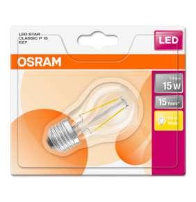 OSRAM LED Filament STAR ClasP  230V 1,4W 827 E27 noDIM A++ Sklo čiré 136lm 2700K 15000h (blistr 1ks)
