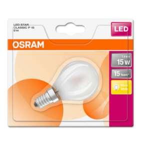OSRAM LED STAR CL P GL Fros. 1,4W 827 E14 136lm 2700K (CRI 80) 15000h A++ (Blistr 1ks)
