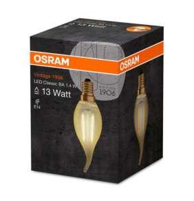 OSRAM LED Filament Vintage 1906 ClasBA  230V 1,4W 825 E14 noDIM A++ Sklo čiré GOLD 120lm 2500K 15000h (krabička 1ks)