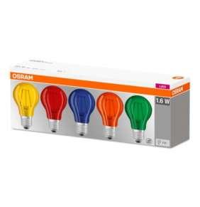 OSRAM LED Filament STAR ClasA ColorBOX 230V 1,6W  E27 noDIM  Sklo čiré COLOR lm K 15000h (krabička 5ks)