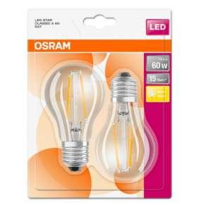 OSRAM LED STAR CL A Filament 6,5W 827 E27 806lm 2700K (CRI 80) 15000h A++ (Krabička 2ks)