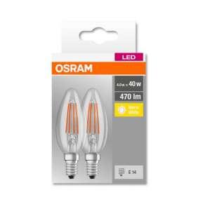 OSRAM LED BASE CL B Filament 4,5W 827 E14 470lm 2700K (CRI 80) 10000h A++ (Krabička 2ks)