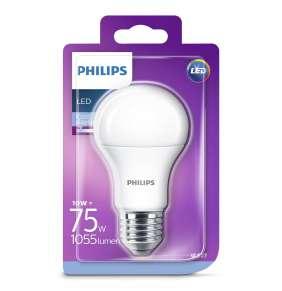 PHILIPS LED žárovka klasická A60 230V 10W E27 noDIM Matná 1055lm 6500K Plast A+ 15000h (Blistr 1ks)