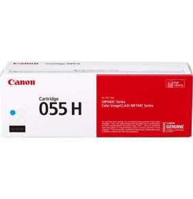 Canon originální toner 055HC (azurový, 5900str.) pro Canon MF742Cdw, MF744Cdw, MF746Cx, LBP663Cdw, LBP664Cx