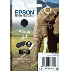 "EPSON ink čer Singlepack ""Slon"" Black 24 Claria Photo HD Ink"