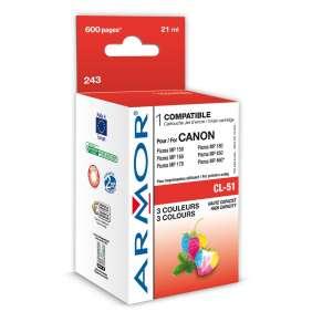 ARMOR ink-jet pre CANON Pixma IP2200, MP150, MP160, MP450, MP460, MX300, MX310, 600 strán , CL51, 3 colors (CL-51)